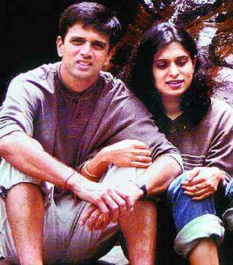 রাহুল দ্রাবিড় ও তার স্ত্রী